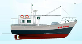 NMDF 54 MK4 Multi Day Long line Fishing Vessel